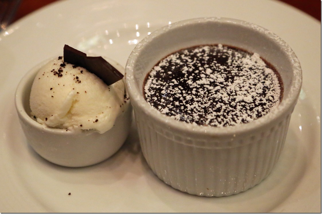 Chocolate melting cake on Carnival Conquest