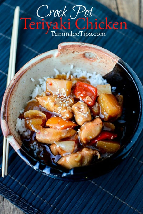 Slow Cooker Crock Pot Teriyaki Chicken Recipe Tammilee Tips