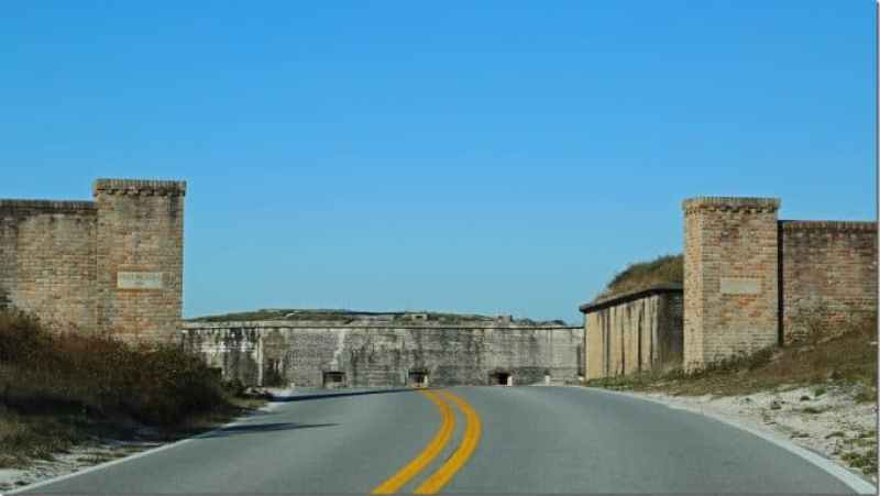 Entering Fort Pickens at Gulf Islands National Seashore