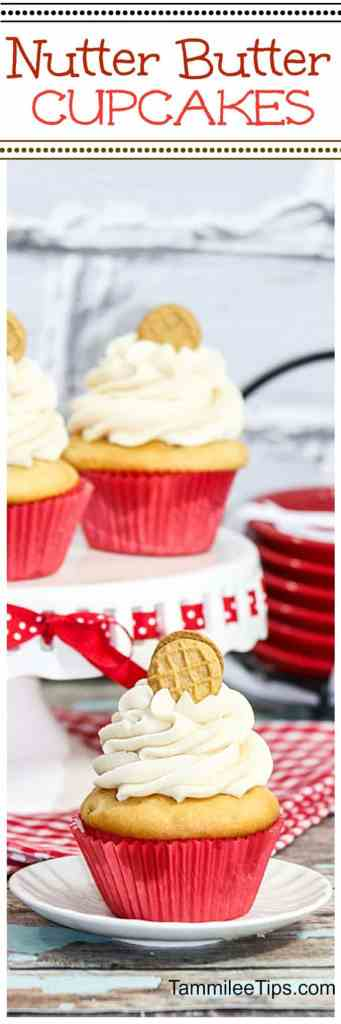 Delicious Nutter Butter Cupcakes Recipe is a great sweet treat. Great for holidays, birthday parties, dessert, friends and family!