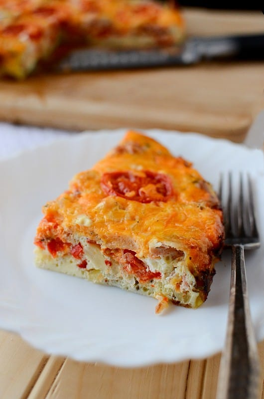 Crock Pot Spicy Bacon and Egg Breakfast Casserole Recipe
