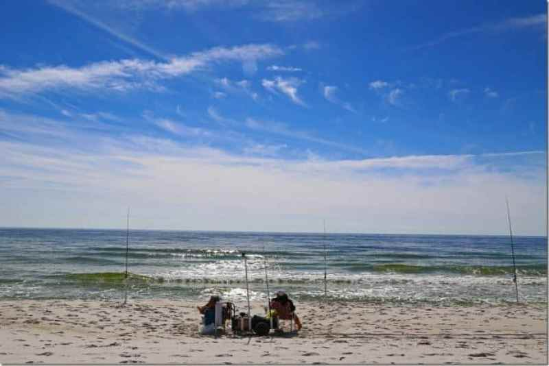 fishing at Gulf Island National Seashore Florida