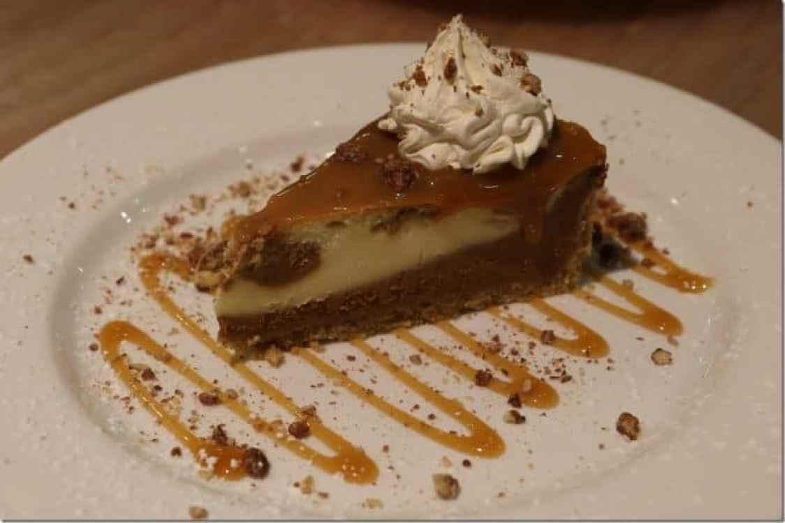 salted carmel cheesecake at Margaritaville Pensacola