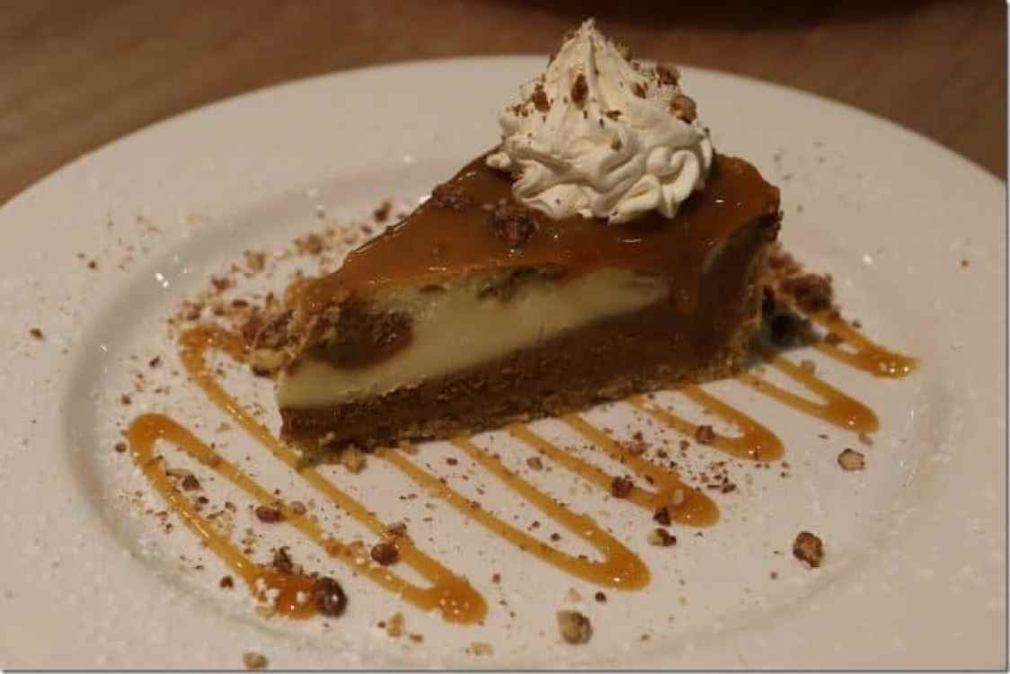salted carmel cheesecake at Margaritaville Pensacola