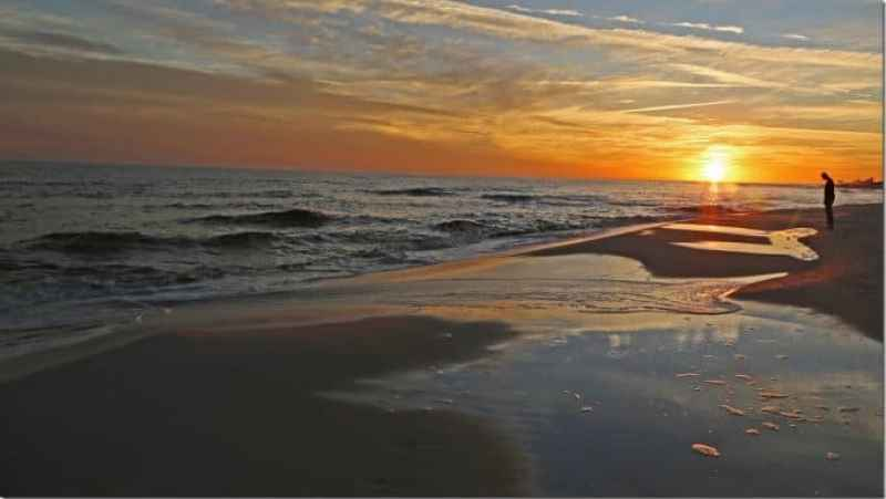 sunset at Gulf Shores National Seashore