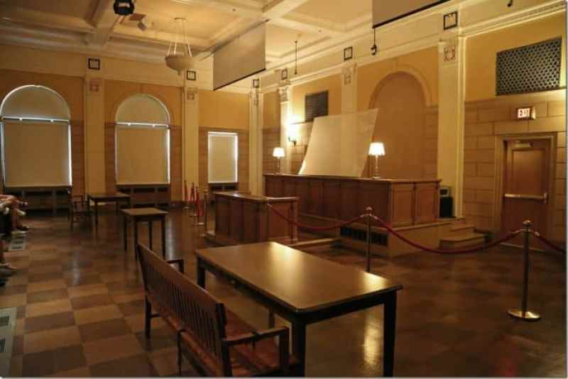 Courtroom in the mob museum