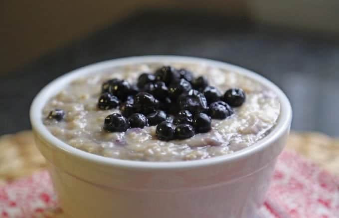 Slow Cooker Crock Pot Blueberry Oatmeal Recipe