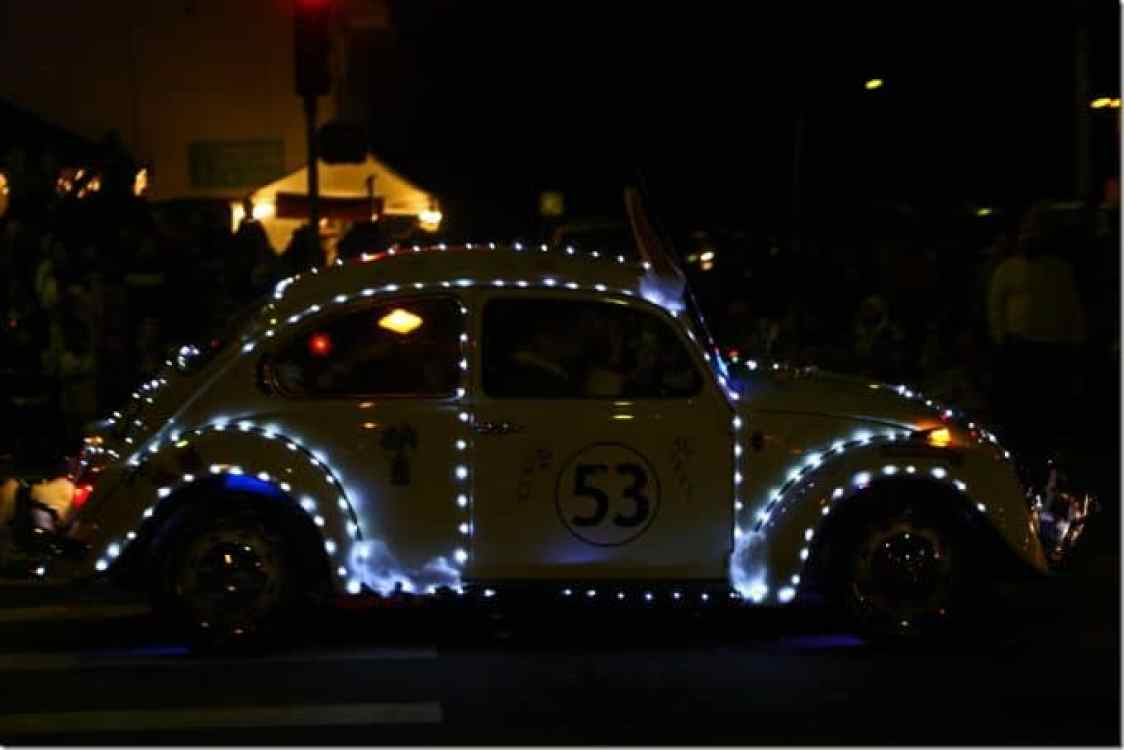 VW decorated at Waimea Christmas Parade