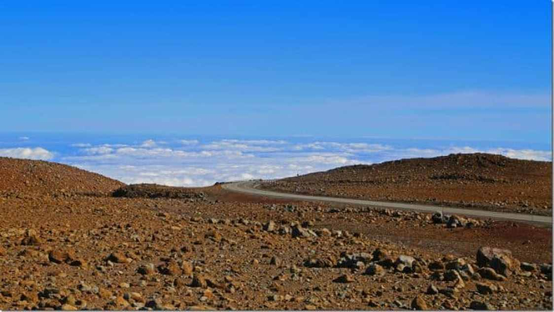 approaching the summit of Mauna Kea Big Island of Hawaii