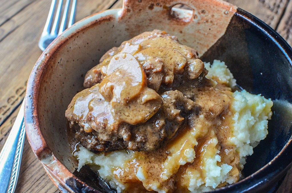 Slow cooker salisbury steak & mushrooms 5