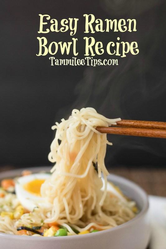 Easy homemade Ramen Bowl Recipe! Make with <a href=