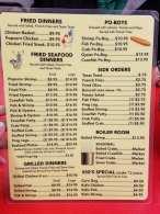Seafood Palace Menu