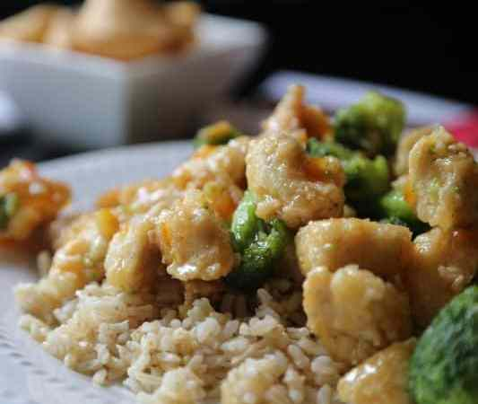 Take Out Style Orange Chicken and Broccoli over Rice Recipe