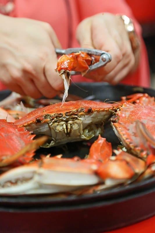 crab at seafood shack