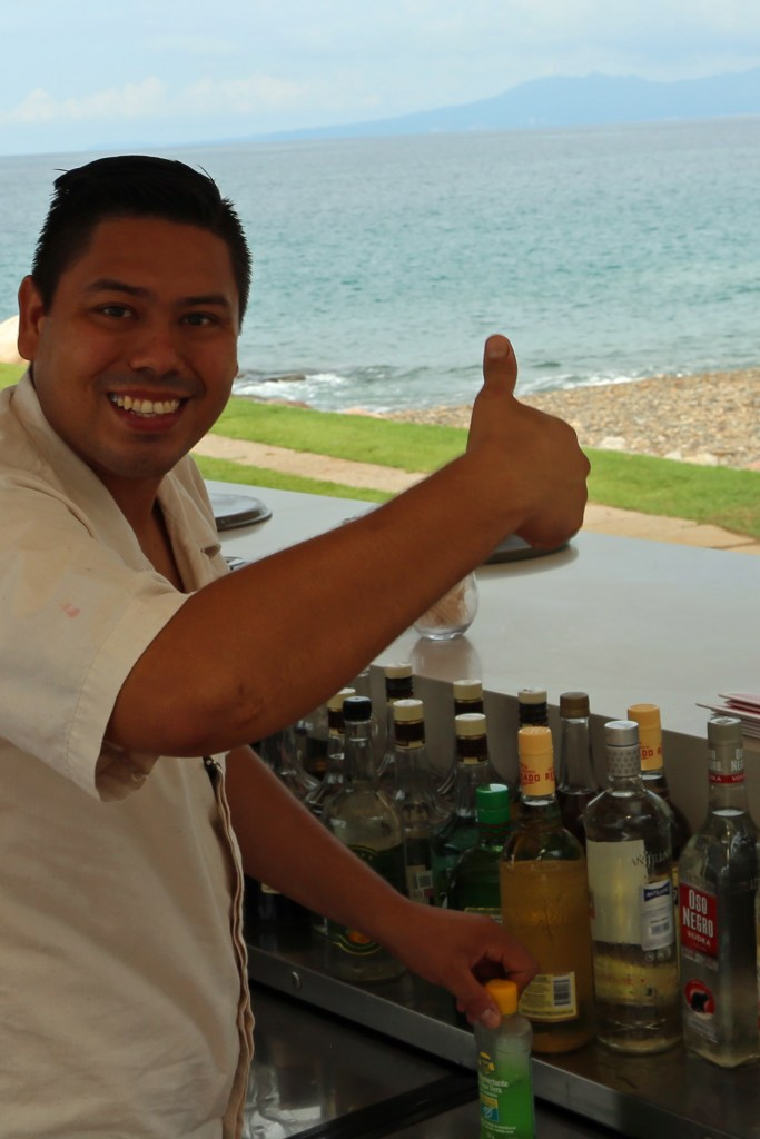 bartender-at-the-infinity-pool-villa-premeire-puerto-vallarta-mexico