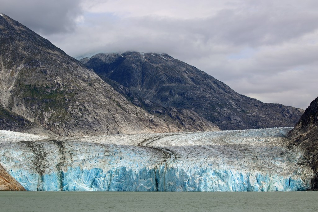 half mile wide glacier in Tracy Arm Fjord