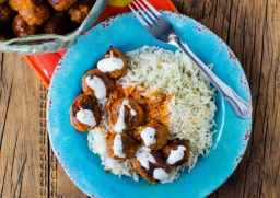 Simple Crock Pot Slow Cooker Buffalo Chicken Meatballs Recipe is perfect for your Super Bowl Football Parties or any day you need a good appetizer recipe. These crockpot meatballs are also great over rice for dinner.