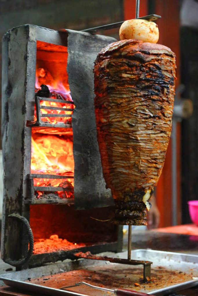 taco-meat-cooking-on-taco-tour-puerto-vallarta-mexico