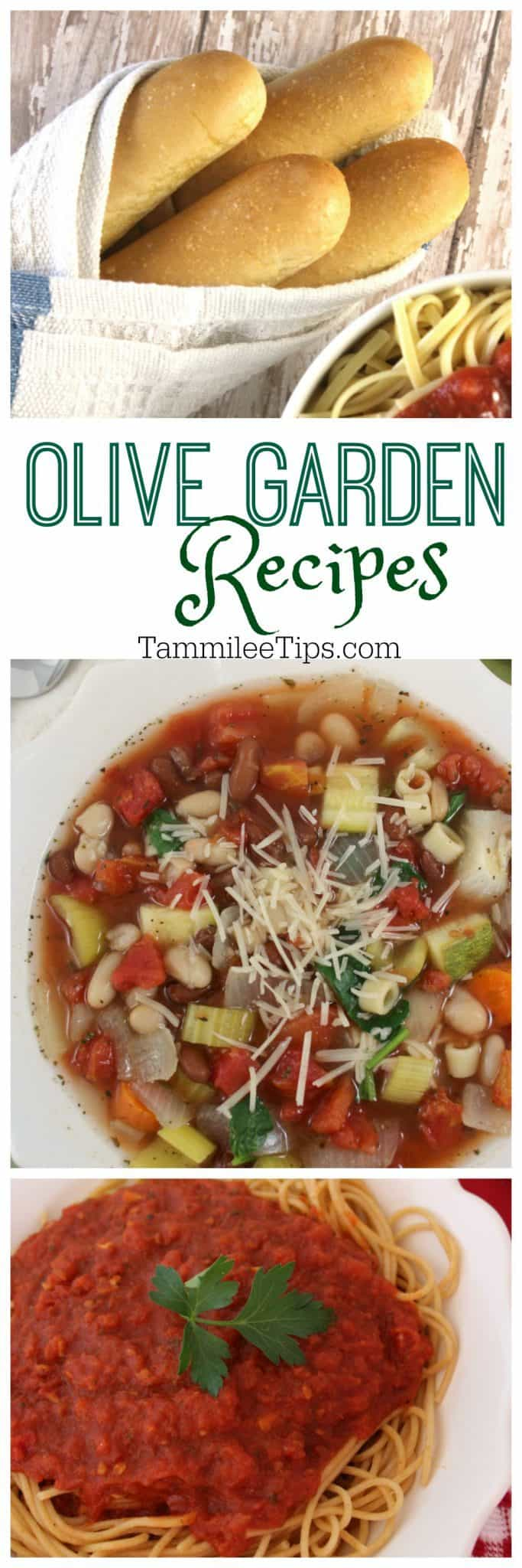 Olive Garden Recipes - Tammilee Tips