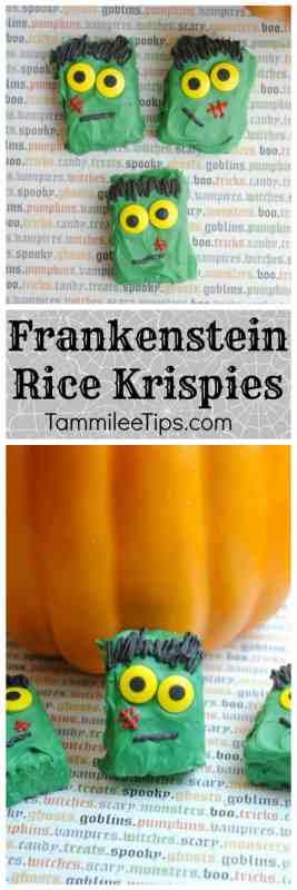 Frankenstein Rice Krispie Treats perfect for Halloween Parties
