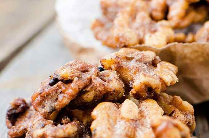 Slow Cooker Crock Pot Sugared Candied Walnuts Recipe