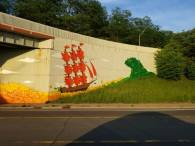 Grand Rapids Leaves Art Mural