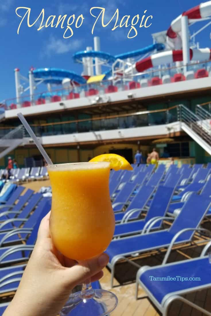 How to make a Mango Magic Frozen Cocktail Recipe that will remind you of your favorite cruise on Carnival Cruise Line! This frozen tropical cocktail is super easy to make and tastes amazing! #cocktail #frozencocktail #cruise #carnivalcruise #recipe #booze #cocktailrecipe