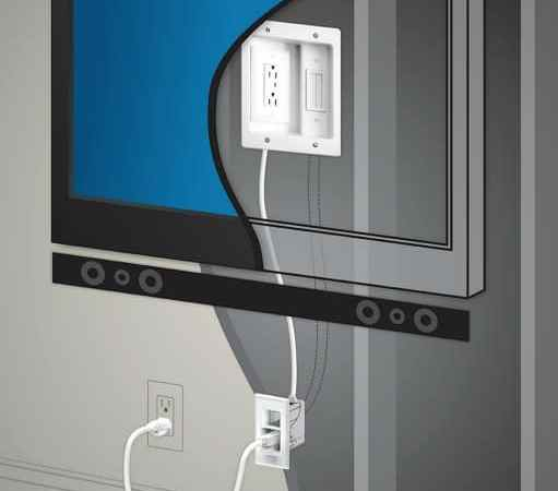 Legrand In Wall TV Power Kit from Best Buy hides your TV Cords and looks great!