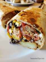 Breakfast burrito Vegan Love Cafe Restaurant Oakhurst