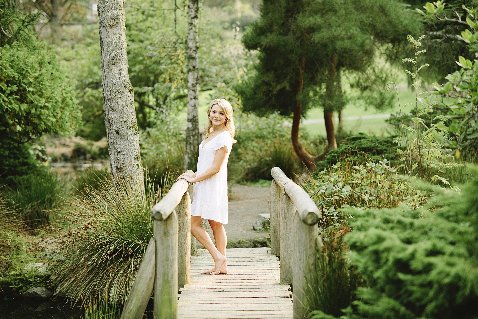 Senior Pictures in a garden