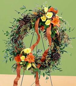 Flourishing Garden Wreath Tammys Floral