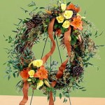 Flourishing Garden Wreath from Tammys Floral