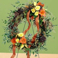 Flourishing Garden Wreath from Tammys Floral