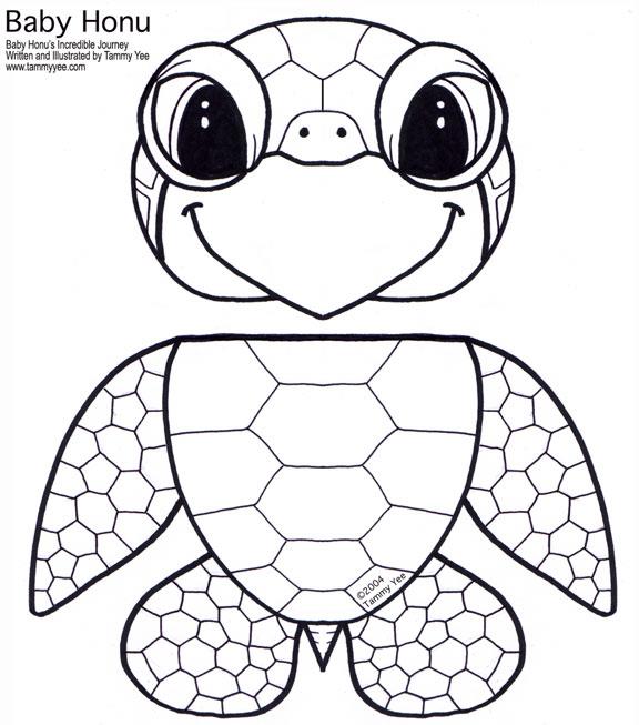 Paper Bag Honu (Green Sea Turtle) Puppet