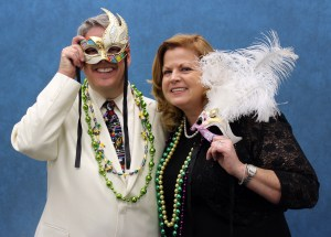 Mardi Gras Gala co-chairs Stanley and Lisa Eding