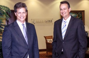 Gardner Sherrill (left) and Danny Wood of Shoreline Financial Partners