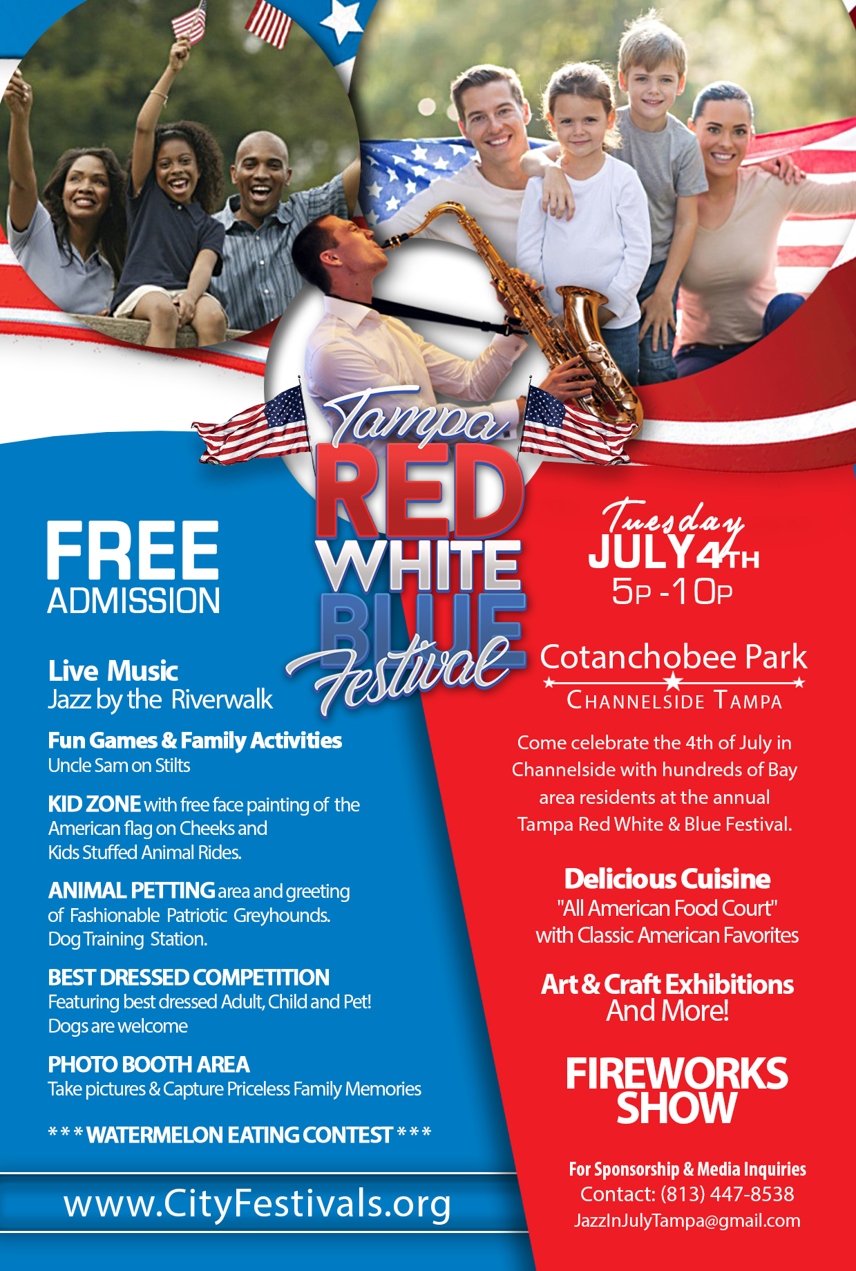 Red White Blue Festival >> Tampa Red White Blue Festival Returns To Cotanchobee Park In