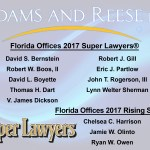 Twelve Adams and Reese Attorneys Named Among 2017 Florida Super Lawyers®, Rising Stars®