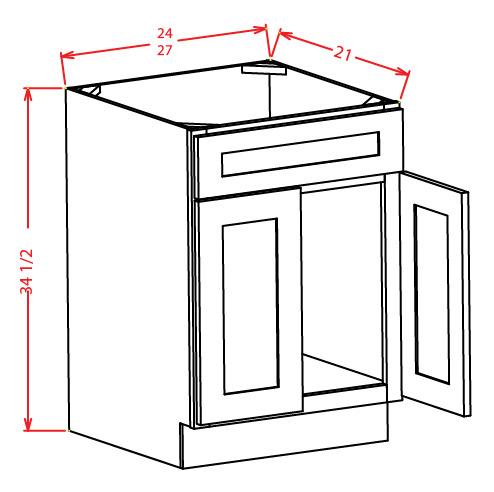 standard vanity sink base cabinet