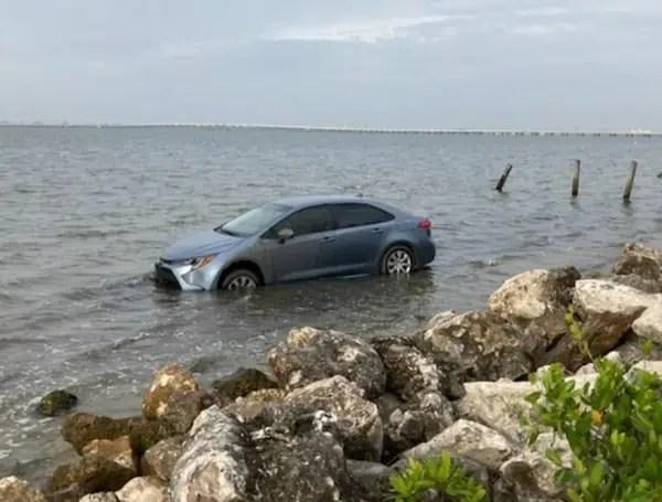 Florida Mans Car In The Ocean