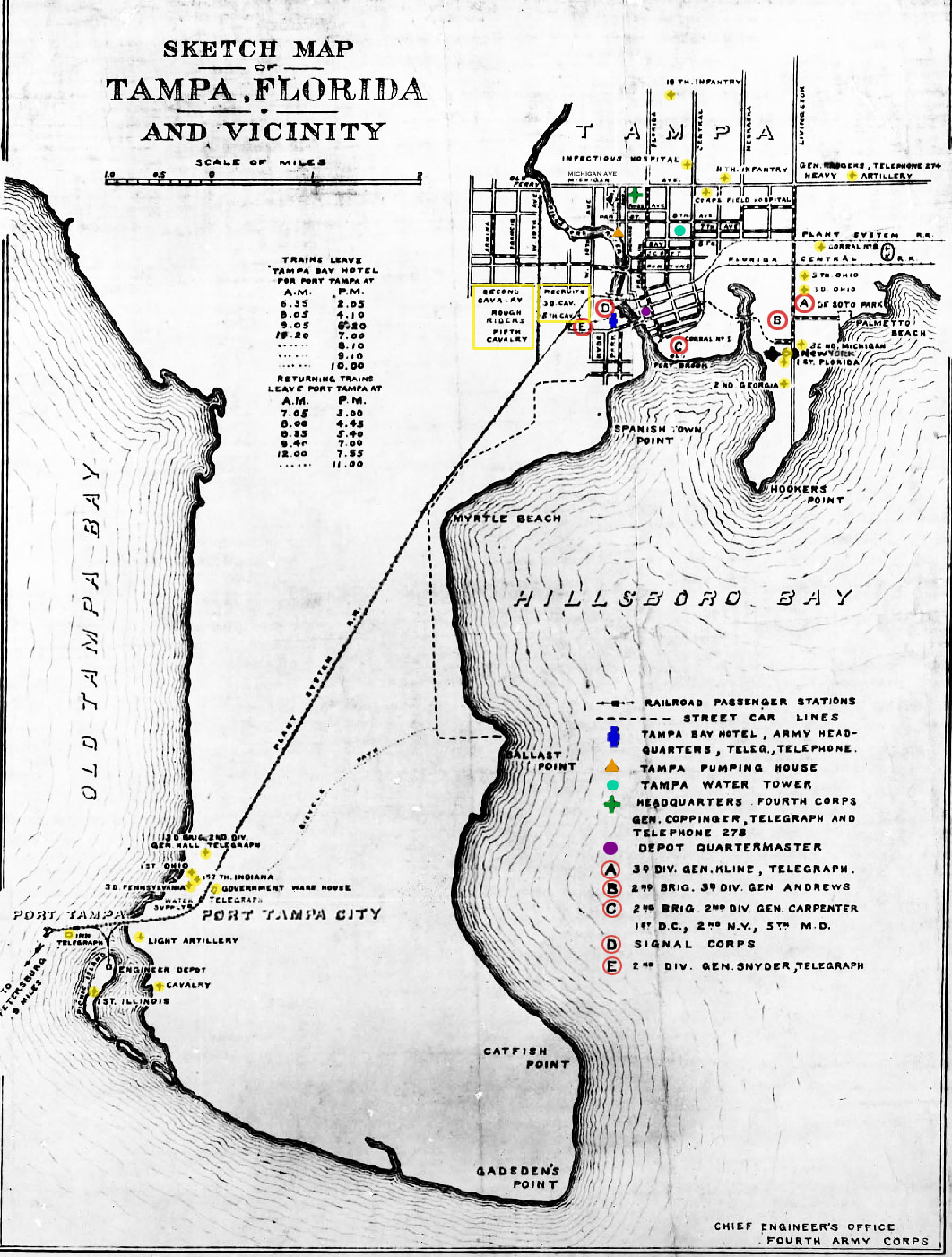 Map Of Tampa During Spanish American War