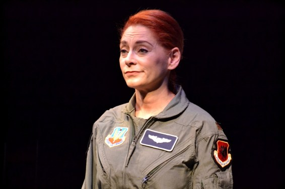 Emilia Sargent as the Pilot in Grounded
