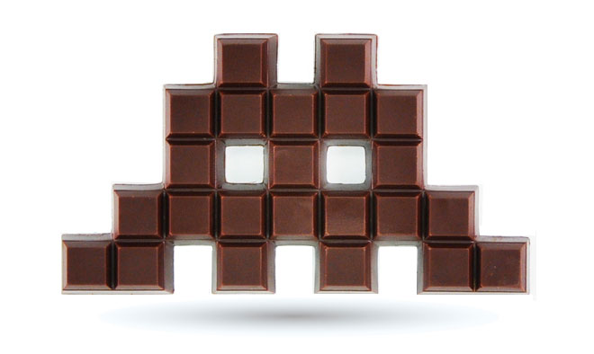 Space Invader Chocolat