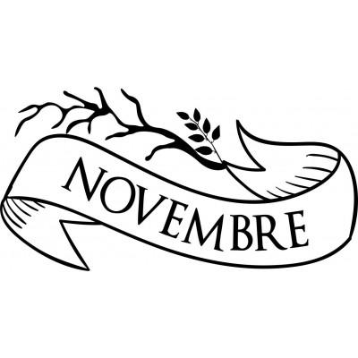 tampon mois novembre à personnaliser
