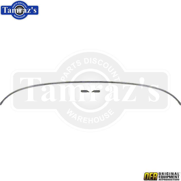 70-81 Camaro Rear Hood Lip Ledge Fender Edge Corner Chrome