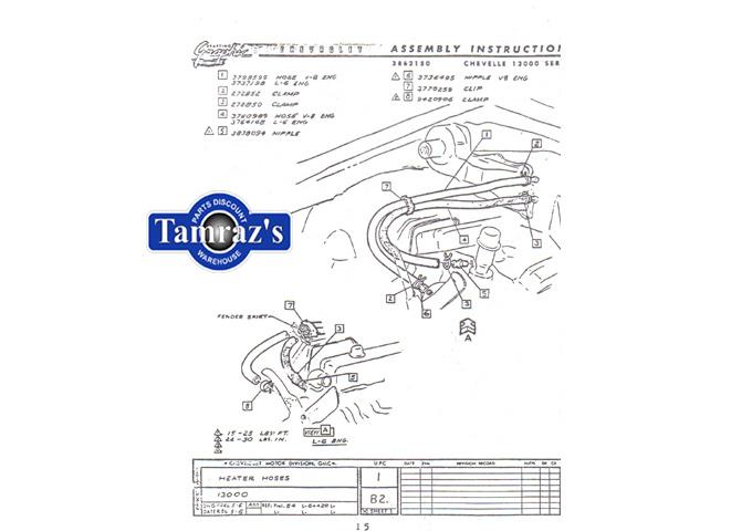 1965 Chevelle Malibu & El Camino Factory Assembly Manual