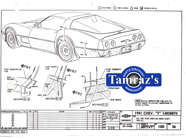1981 Corvette Factory Assembly Manual Loose Leaf UnBound