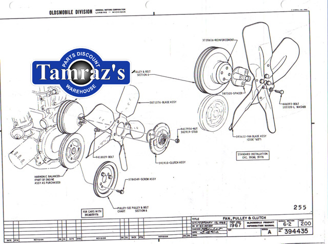 1967 Cutlass 442 F85 Factory Assembly Manual Loose Leaf