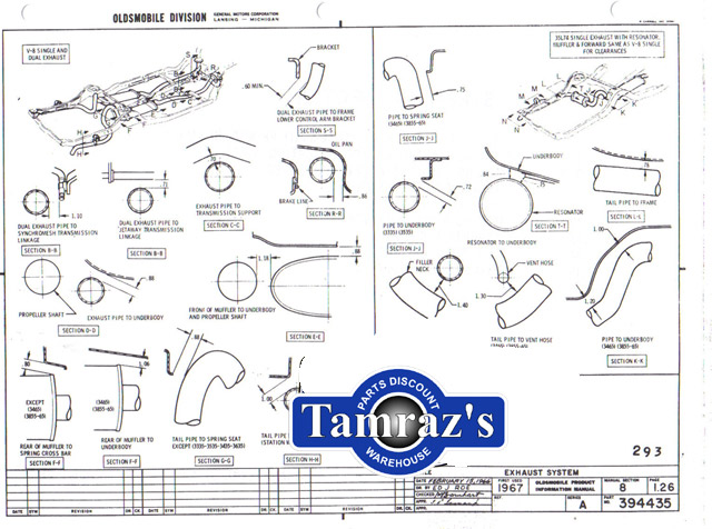 1967 Cutlass 442 F85 Factory Assembly Manual Loose Leaf