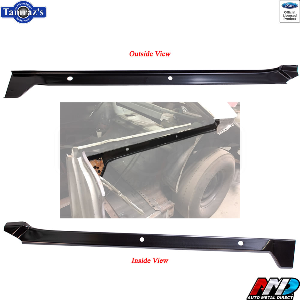 hight resolution of details about new from amd 63 ford galaxie upper quarter panel reinforcement support brace lh